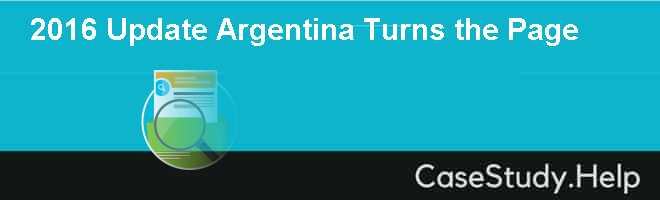 2016 Update Argentina Turns the Page Case Solution