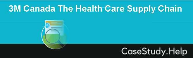 3M Canada The Health Care Supply Chain