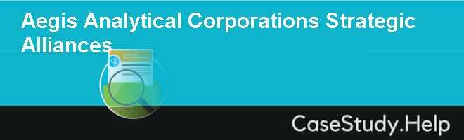Aegis Analytical Corporations Strategic Alliances