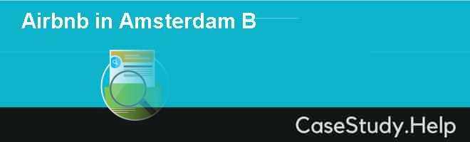 Airbnb in Amsterdam B