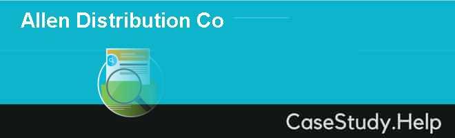 Allen Distribution Co
