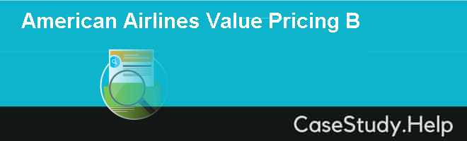 American Airlines Value Pricing B