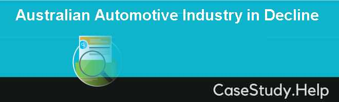 Australian Automotive Industry in Decline