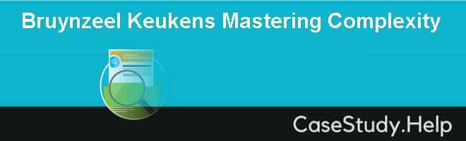 Bruynzeel Keukens Mastering Complexity