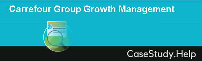 Carrefour Group Growth Management