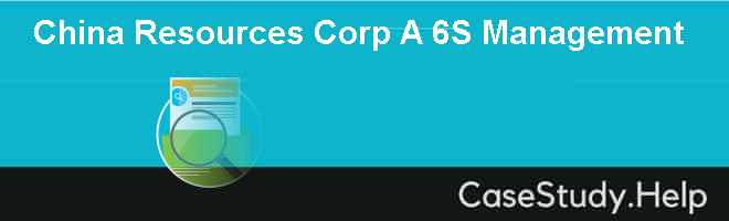 China Resources Corp A 6S Management