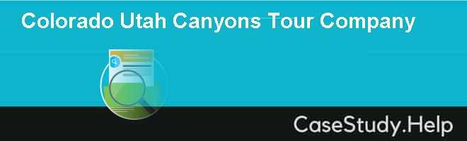 Colorado  Utah Canyons Tour Company