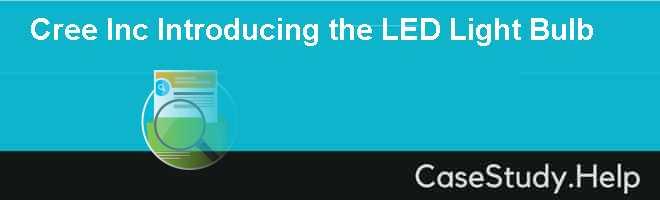 Cree Inc Introducing the LED Light Bulb