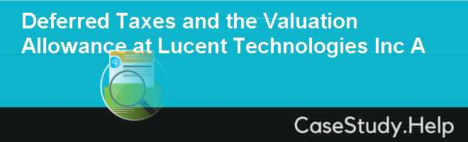 case study lucent technologies Lucent technologies provisioning and postponement harvard case study solution and analysis of case study solution & analysisin most courses studied at harvard business schools, students are provided with a case study.