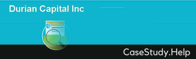 Durian Capital Inc