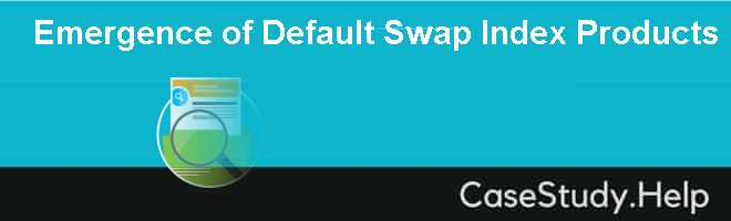 Emergence of Default Swap Index Products
