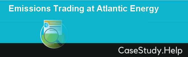 Emissions Trading at Atlantic Energy