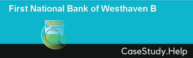 First National Bank of Westhaven B