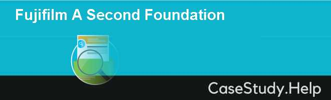 Fujifilm A Second Foundation