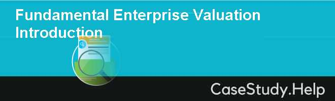Fundamental Enterprise Valuation Introduction