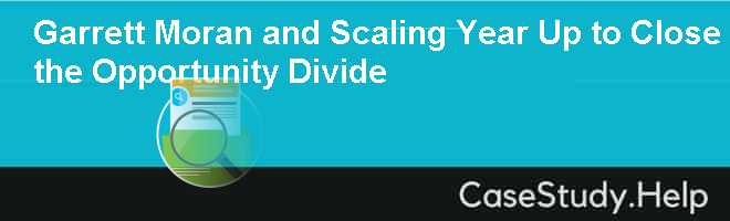 Garrett Moran and Scaling Year Up to Close the Opportunity Divide