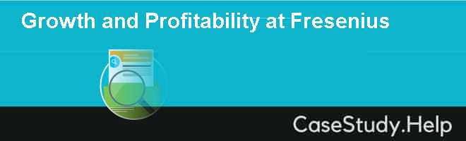 Growth and Profitability at Fresenius