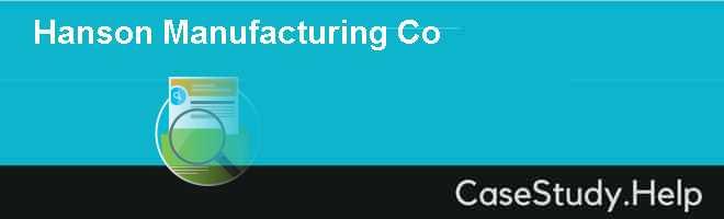 Hanson Manufacturing Co