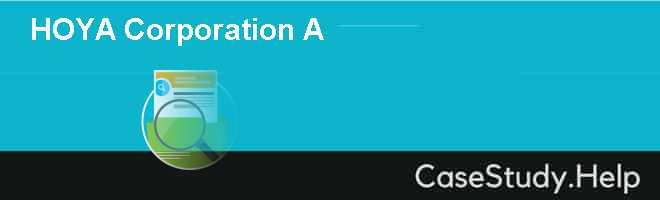 HOYA Corporation A