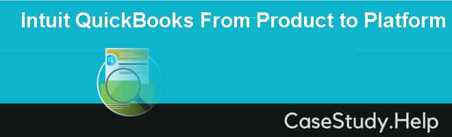 Intuit QuickBooks From Product to Platform