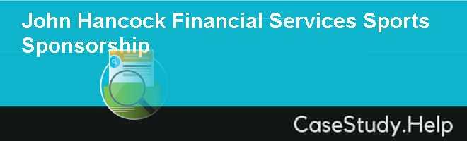 John Hancock Financial Services Sports Sponsorship