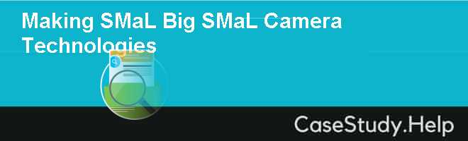 Making SMaL Big SMaL Camera Technologies Case Solution