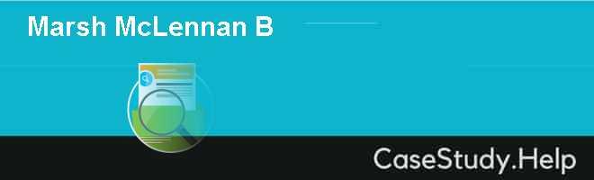 Marsh  McLennan B