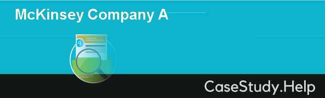 McKinsey & Company (A)