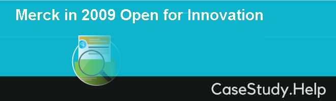 Merck in 2009 Open for Innovation