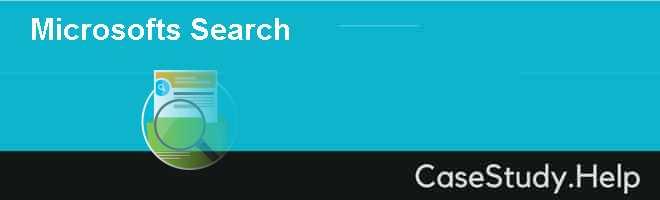 Microsofts Search