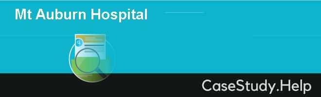 Mt Auburn Hospital