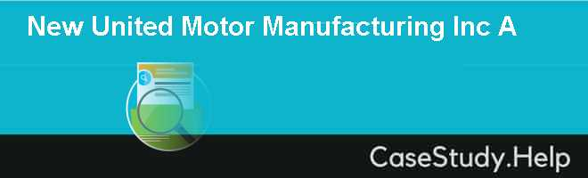 New United Motor Manufacturing Inc A