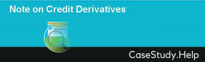 Note on Credit Derivatives