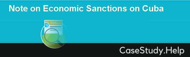 Note on Economic Sanctions on Cuba