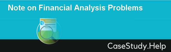 Note on Financial Analysis Problems