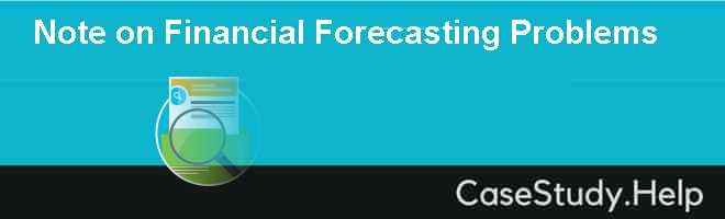 Note on Financial Forecasting Problems