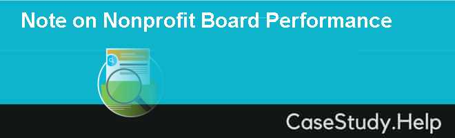 Note on Nonprofit Board Performance