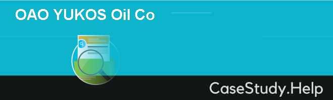 OAO YUKOS Oil Co