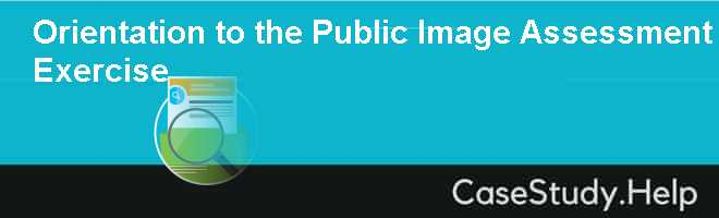 Orientation to the Public Image Assessment Exercise