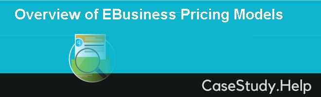 Overview of EBusiness Pricing Models