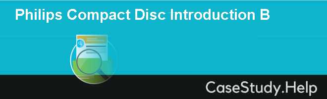 Philips Compact Disc Introduction B