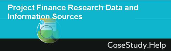 Project Finance Research Data and Information Sources