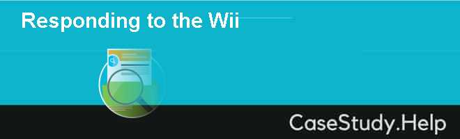 Responding to the Wii