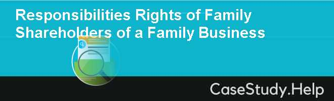 family business case studies Family business is an existing business build by some family members who were entrepreneurs at some point of time in the past family business case studies encourage.