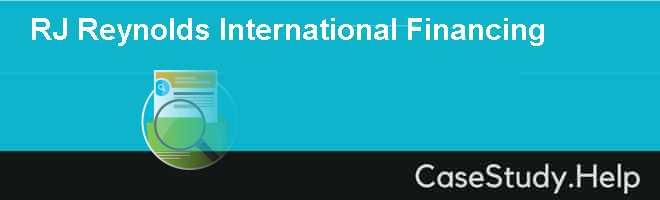 RJ Reynolds International Financing