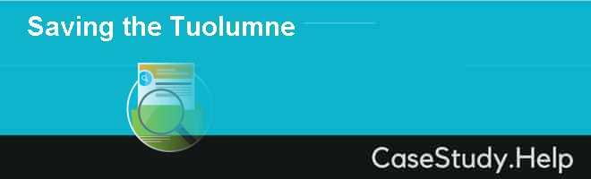 Saving the Tuolumne