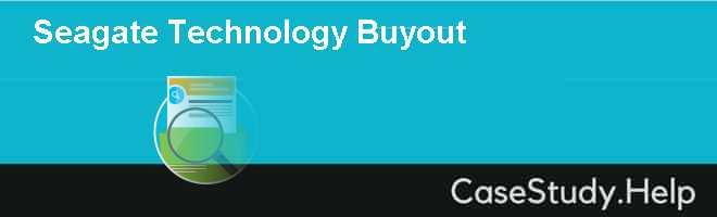 Seagate Technology Buyout