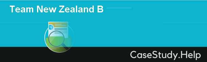Team New Zealand B