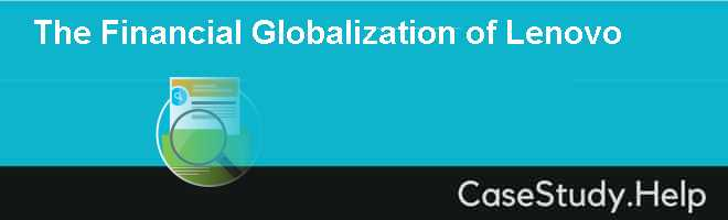 The Financial Globalization of Lenovo