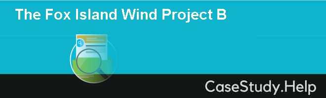 The Fox Island Wind Project B